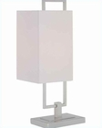 Lite Source in White Fabric Shade Glaucio Table Lamp LS-21630PS-WHT