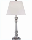 Lite Source in White Fabric Shade Table Lamp LS-21138PS-WHT