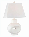Lite Source in White Semplice Table Lamp LS-20618WHT/WHT