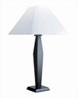 Lite Source Largo Wood Table Lamp in Dark Walnut White LS-3615D-WAL