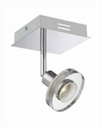 Lite Source Led Wall Lamp Chrome with Clear Glass Shade LS-16998