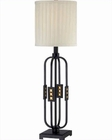 Lite Source Metal Body with Fabric Shade Topaz Table Lamp 23W LS-22165