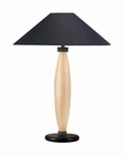 Lite Source Natural Wood Table Lamp w/ Black LS-3321LNAT-BLK
