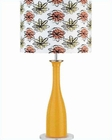 Lite Source Orange Body Color Printed Shade Table Lamp LS-2687ORN
