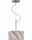 Lite Source Pendant Lamp in PS striped Glass Shade LS-19340