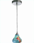 Lite Source Pendant Lite PS with Mixed Aqua Glass Shade LS-18851AQUA