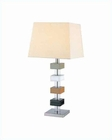 Lite Source PS Leather Deco. with Linen Shade Table Lamp LS-2947LTHR