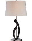 Lite Source PS off White Fabric Shade Ulfah Table Lamp LS-22155