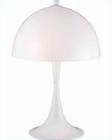 PS White Acrylic Shade Spiral Fluor Pliant table lamp LS-2902WHT-WHT