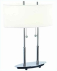 Lite Source PS White Glass Shade Bliss Table Lamp LS-3821PS-WHT