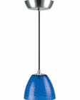 Lite Source PS with Colored Blue Glass Shade Pendant Lamp LS-14081