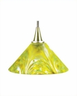 Lite Source PS with Colored Green Glass Pendant Lamp LS-14101L-GRN