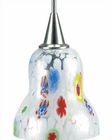 Lite Source PS with Colored White Glass Pendant Lamp LS-14091WHT