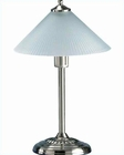Lite Source PS with Glass Shade Fantasia Metal Table Lamp LS-3450PS
