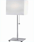Lite Source PS with Off White Fabric Shade Cube Table Lamp LS-3469PS