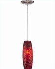 Lite Source PS with Red Mosaic Shade Pendant Lamp LS-1937RED-MOS