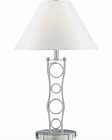 Lite Source PS with White Fabric Shade Vortex Table Lamp LS-3862PS