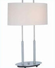 Lite Source PS with White Shade Bliss Table Lamp LS-3822PS-WHT