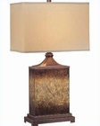 Lite Source Rusted Gold Painted Glass Table Lamp LSF-21214