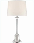 Lite Source Silver Plated Crystal w/ White Adara Table Lamp LSF-22133