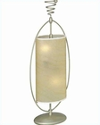 Lite Source Silver with Parchment Shade Table Lamp LS-3786SILV