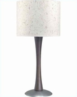 Lite Source SS  Walnut w/ Texture Paper Shade Table Lamp LS-3923D-WAL