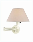 Lite Source Swing Arm Wall Lamp Ivory with Off White Shade LS-1171IVY