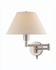 Lite Source Swing Arm Wall Lamp PS with Off White Shade LS-1171PS