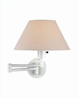 Lite Source Swing Arm Wall Lamp White with Off White Shade LS-1171WHT