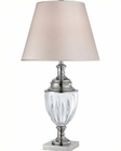 Lite Source Table Lamp Chrome with Fabric Shade Sasilvia LS-22126