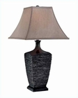 Lite Source Table Lamp Ant. Bronze Tan Fabric Shade Ciolato LS-21366