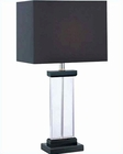 Lite Source Table Lamp in Black with Clear Acrylic Simone LS-21377