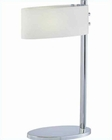 Lite Source Table Lamp in Chrome Frost Glass Shade Hovan LS-21516C-FRO