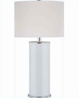 Lite Source Table Lamp in Chrome Wht. Glass Body Bianco LS-21424
