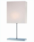 Lite Source Table Lamp Chrome w/ White Fabric Shade LS-21376C-WHT