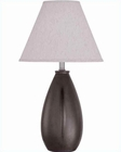 Lite Source Table Lamp in Coffee Ceramic Body Marshall LS-21490COFFEE