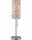 Lite Source Table Lamp in PS-Shell Mosaic Shade Schale LS-21381