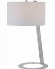 Lite Source Table Lamp in PS-White Fabric Shade Futurum LS-21395PS-WHT