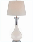 Lite Source Table Lamp PS-White Glass w/ White LS-21426WHT-WHT