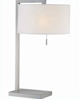 Lite Source Table Lamp in PS White Paper Shade Clement LS-21532PS-WHT