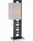 Lite Source Table Lamp PS and  Walnut w/ Off White 23W LS-2451