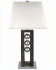 Lite Source Table Lamp PS and  Walnut w/ Off White LS-2450
