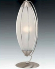 Lite Source Table Lamp PS w/ Frost Glass Shade Link LSI-2042PS-FRO