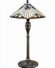 Lite Source Tiffany Table Lamp with Antique Bronze Moonstruck LSF-3212