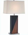 Lite Source Two Tone in PS Beige Fabric Shade Table Lamp LS-22093