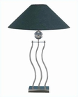 Lite Source Urban Loft Wave Body Table Lamp in PS Black LS-3301PS-BLK