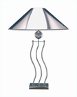 Lite Source Urban Loft Wave Body Table Lamp PS Silver LS-3301PS-SILV