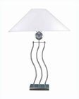 Lite Source Urban Loft Wave Body Table Lamp in PS White LS-3301PS-WHT