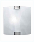 Lite Source Wall Lamp PS with Cloud Glass Shade LS-1395CLOUD