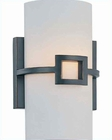 Lite Source Wall Sconce Antique Bronze with Frost Glass Shade LS-16977